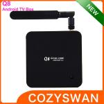 China Plastic Android Smart TV Box Hardware decode H.265 quad core 2+8GB 4.4 wholesale