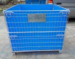 Factory Foldable stainless steel wire mesh metal pallet Storage Cage wire