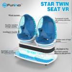 20 PCS VR Games 9D Virtual Reality Cinema with Electric Motor System / Two Egg Cabins