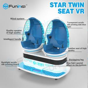 China Two players 1.2KW VR Game Machine / 9d Cinema Simulator With VR Helmet supplier