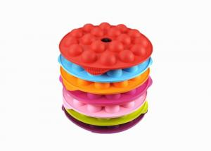 China 18 Balls Round Silicone Ice Trays Colorful Small Ice Hockey Mold With Logo Customized on sale
