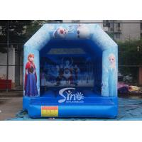 Commercial grade kids frozen bouncy castle with roof made of 610g/m2 pvc tarpaulin