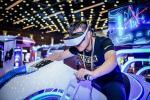 China Theme Park 9D Virtual Reality Simulator / Leke Immersive VR Motor Bike Driving Games wholesale