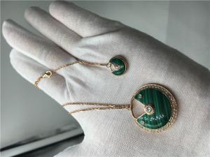 China Malachite High End Custom Jewelry Amulette De Cartier Necklace For Women on sale