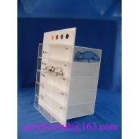 Custom rotating acrylic display stand for glasses with logo printing