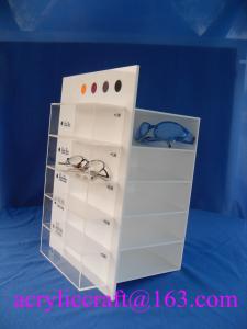China Custom rotating acrylic display stand for glasses with logo printing on sale
