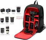 Upgrade Waterproof Digital DSLR Photo Padded Backpack w/ Rain Cover Laptop Multi-functional Camera Soft Bag Video Case