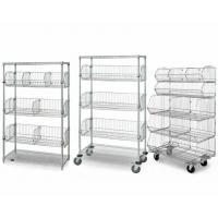 5 Layer Chrome Finish Steel Wire Basket Unit With 7 Baskets In Shop