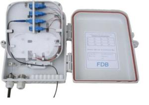 China High Impact Plastic Fiber Distribution Box For FTTH Project , SGS ISO Listed on sale