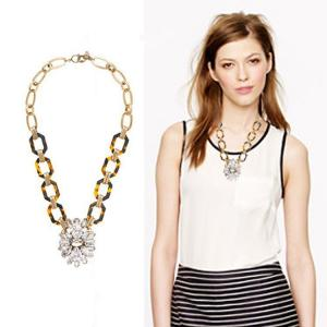 China Acrylic & glass ancient style necklace ,Customized clothing fashion accessories factory on sale