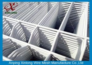China Convenient Installation Welded Wire Mesh Sheets , Pure White 3D Wire Mesh Fence on sale