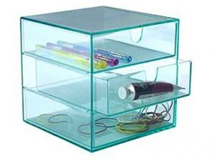China transparent acrylic organizer storage box on sale