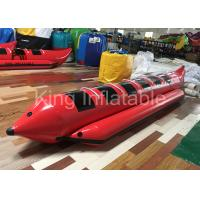 Red Water Game Banana Boat Inflatable Fly Fishing Boats For Water Racing Sport