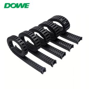 China 18x18 Semi-Enclosed Interior Opening Electric CNC Machine Nylon Drag Cable Tow Chain on sale
