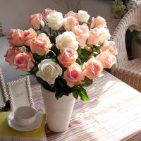 2013 new style colorful fabric/plastic artificial rose flower home decoration&gift
