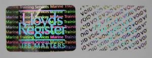 China Tamper Evident Void Hologram Security Stickers / Hot Stamp Stickers Glossy Varnish on sale