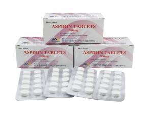 China Aspirin Tablet 300mg/ 500mg, 10*10's/box, 1000's/jar, BP/USP/CP on sale
