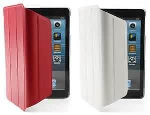 China Ultra slim rose-red color washable for iPad Mini foldable leather protective cases on sale