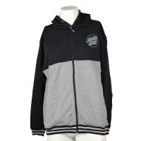 China Men Black Grey Hooded Zippered Sweatshirt Jackets With Letter Printed Patterns on sale