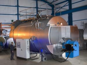 China Horizontal PLC 10 Ton Oil fired Steam Boilers Dual Fuel with 5.7 Touch Panel on sale