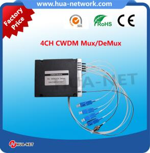 China Factory price for 4CH CWDM Mux/DeMux ABS Box Type with SC/UPC at low insertion loss on sale