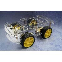L293D 4wd Drive Robot Smart Car Chassis , Remote Control Car Parts