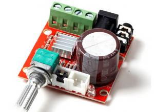 China Mini Hi-Fi PAM8610 Audio Stereo Amplifier board/2X10W Dual Channel on sale
