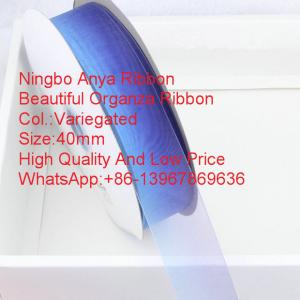 China Gift packaging Variegated Silk Organza Ribbon,Organza ribbon,fashion ribbon,silk Organza,Clothing Accessories on sale