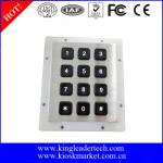 Stainless Steel Backlit 12 Key Numeric Keypad With Matrix 3x4
