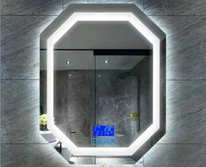 China Rectangle / Arch / Oval Fog Free Bathroom Mirror 4mm Silver Coated Glass on sale