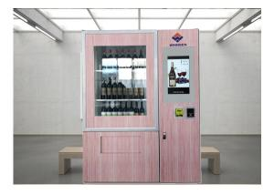 China Remote Stock Monitor Wine Dispenser Beer Vending Machine With Advertising Function on sale