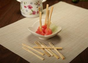 China Hand Made Decorative Bamboo Skewers For Cocktail / Fruit Kabobs / Grilling on sale