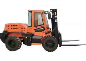 China Rated Load 3.5 Ton Diesel Forklift , Four Wheel Drive Small Rough Terrain Forklift on sale