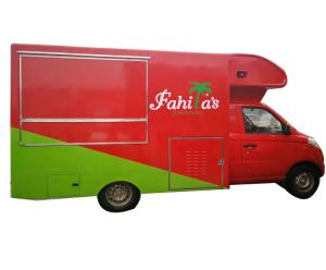 China Awesome Petrol Mobile Kitchen Truck , Mobile Fast Food Van Gasoline Fuel Type on sale