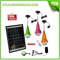 Rechargeable solar energy lamp, solar emergency hom lighting kits with remote controller