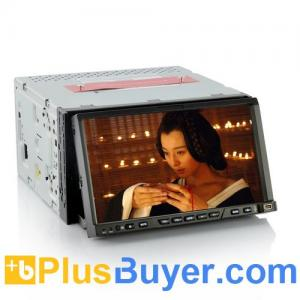 China KITT - 2 DIN Android 4.0 Car DVD Player with 7 Inch Detachable Screen, GPS, 3G, WiFi on sale