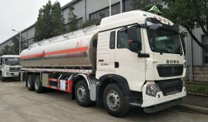 China Sinotruk HOWO A7 8x4 Fuel Delivery Tank Truck For Palm Oil / Food Oil Transportation on sale