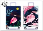 Cartoon Animal Flamingo Suitcase Covers Custom Digital Printed Luggage Protector Cover