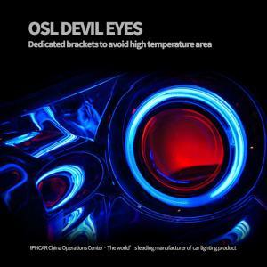 China IPHCAR Led Demond Eye Osam Led devil eye RGB angel eye Suit for 2.5 mini lens 3 inch Hella Lens Q5 Lens on sale
