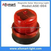 4LED Red Flash Solar Powered Magnet Signal Lights Traffic Barricades Lamp Solar Metro Construction Blink Led Lighting