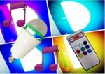 APP Colour Speaker Bulb lights,sound control with remote control lights system