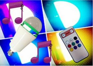 China APP Colour Speaker Bulb lights,sound control with remote control lights system on sale