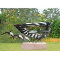 Dolphin Woman Bronze Outdoor Sculptures , Big Modern Bronze Sculpture