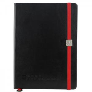 China Dark Blue PU cover blank notebook with elastic band_China Printing Factory on sale