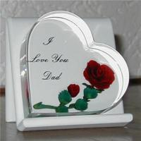 China acrylic engraved heat shaped  decoration/gift on sale