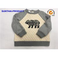 China Fashion Baby Boy Quilted Jacket , Screen Print Raglan Sleeve Quilted Fabric Jacket on sale