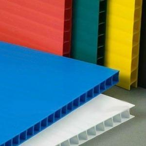 China Light weight 8mm 10mm 12mm Correx Plastic Sheets For Building Protection on sale