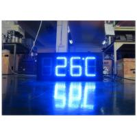 China Double Sides Blue Gas Station LED Signs IR 10M RF 100M With Poos , LED Temperature Display on sale