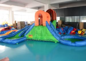 bc6cbdd04a5 ... Quality Waterproof PVC Dual Inflatable Twister Water Park Slide