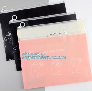 China towel slider cosmetic bag, Slider Zip Poly Bag, office file bag with zipper/document file pockect, clear pvc zipper bag/ on sale